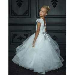 HANDMADE IVORY FIRST HOLY COMMUNION DRESS BY TETER WARM STYLE G02