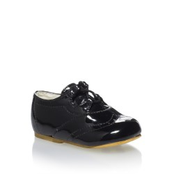 Charming Lacquered Christening/Special Occassion Shoes For Boys style Leo