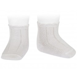 WHITE BABY GIRL/BOY CHRISTENING/BAPTISM SPANISH SOCKS STYLE 2.393/4