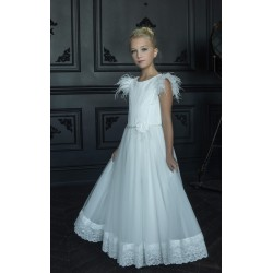 HANDMADE IVORY FIRST HOLY COMMUNION DRESS BY TETER WARM STYLE G18