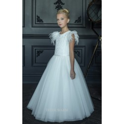 HANDMADE IVORY FIRST HOLY COMMUNION DRESS BY TETER WARM STYLE G15