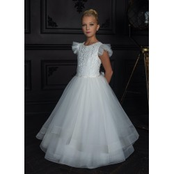 HANDMADE IVORY FIRST HOLY COMMUNION DRESS BY TETER WARM STYLE G10