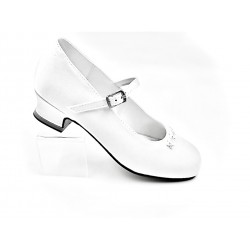 WHITE SATIN FIRST HOLY COMMUNION SHOES STYLE 5375