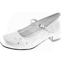 WHITE SATIN FIRST HOLY COMMUNION SHOES STYLE 5294