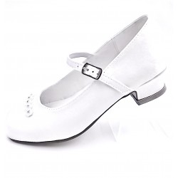 WHITE FIRST HOLY COMMUNION/SPECIAL OCCASION SHOES STYLE 5373