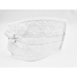 Spanish White First Holy Communion Face Mask Style CM-A4