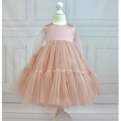 BEAUTIFUL HANDMADE PINK FLOWER GIRL / CONFIRMATION DRESS STYLE YORK