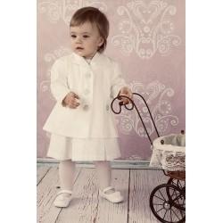 Ivory Baby Girl Christening Coat Style C028