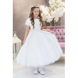 White First Holy Communion Dress & Bolero Style JULIA BIS