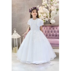 White First Holy Communion Dress & Bolero Romany