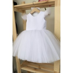 HANDMADE IVORY CHRISTENING DRESS STYLE KATE