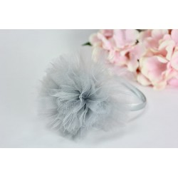 Handmade Grey/White Flower Girl/Special Occasion Headband Style PS01