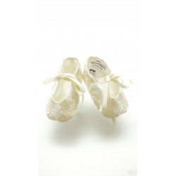 Marla Handmade Ivory Christening Baby Girl Shoes Style M596