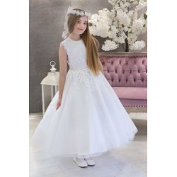 White First Holy Communion Dress Style HANNA
