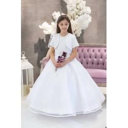 White First Holy Communion Dress & Bolero Style FREDERICKA