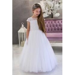 White Handmade First Holy Communion Dress Style ISADORA
