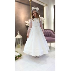 Handmade Ivory First Holy Communion Dress Style ALIKIA