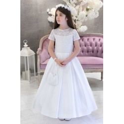 White Handmade First Holy Communion Dress Style LETYCJA