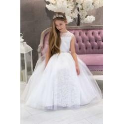 White Handmade First Holy Communion Dress Style CARMEN BIS