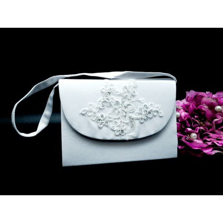 WHITE FIRST HOLY COMMUNION HANDBAG STYLE 6021