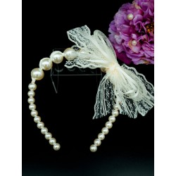 Handmade Pearly Ivory Flower Girl/Special Occasion Headband Style PS08