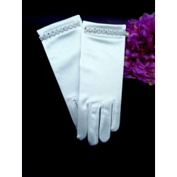 WHITE FIRST HOLY COMMUNION GLOVES STYLE 806