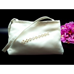 LITTLE PEOPLE IVORY FIRST HOLY COMMUNION HANDBAG STYLE 8061 TRIM