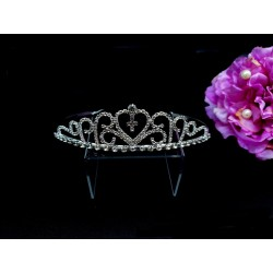 Silver First Holy Communion Tiara by Little People Style 5875