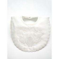 Ivory Christening Baby Boy/Girl Bib Style P5172C