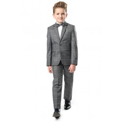 Gray Checkered 2 Pieces First Holy Communion/Special Occasion Suit Style CARLO
