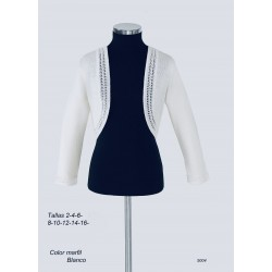 White Handmade First Holy Communion Cardigan Style 5004