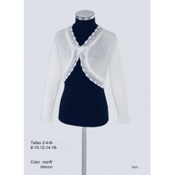 White Handmade First Holy Communion Cardigan Style 5003