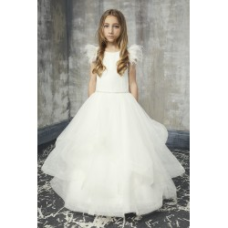 Handmade Ivory First Holy Communion Dress by Teter Warm Style 221