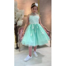 Ice Green Confirmation Dress Style Sheila Mary LC