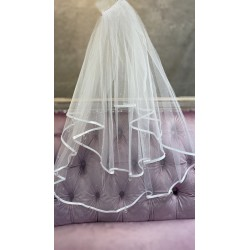 White First Holy Communion Veil Style CV162