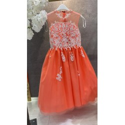 CORAL CONFIRMATION DRESS STYLE SHEILA MARY LC