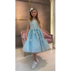 ICE BLUE CONFIRMATION DRESS STYLE SHEILA MARY LC