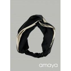 Amaya Handmade Black/Beige Confirmation/Special Occasion Hairband Style 533330TU