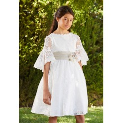 Amaya Ivory Handmade First Holy Communion Dress Style 536012