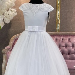 BEAUTIFUL BALLERINA LENGTH FIRST HOLY COMMUNION DRESS STYLE BIANKA SHIMMER