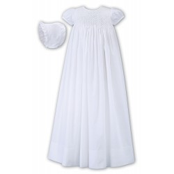 Baby Ceremonial White Robe & Bonnet By Sarah Louise Style 001172S