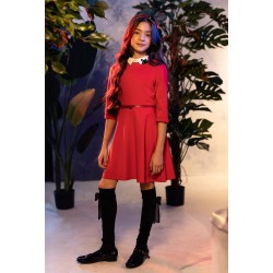 Red Confirmation/Special Occasion Dress Style 0AW-04