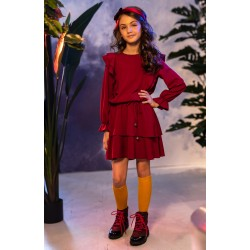 Burgundy Confirmation/Special Occasion Dress Style 0AW-3B
