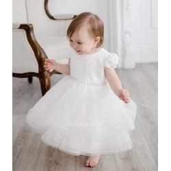 TETER WARM HANDMADE BABY GIRL IVORY CHRISTENING DRESS B92