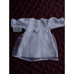 Christening Dress Chloe White Long Sleeve