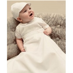 Ivory Baby Christening Robe/Romper & Cap By Sarah Louise Style 001179S