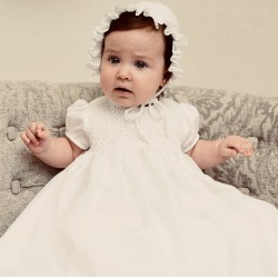 Baby Ceremonial Ivory Robe & Bonnet By Sarah Louise Style 001172S