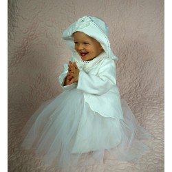Linen Christening Snowflake Outfit