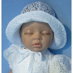 White Lace Baby Girl Hat CK02