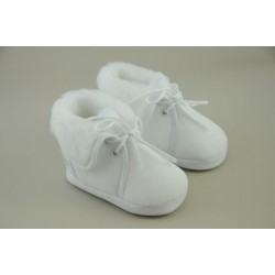 Christening Booties with Fur 116